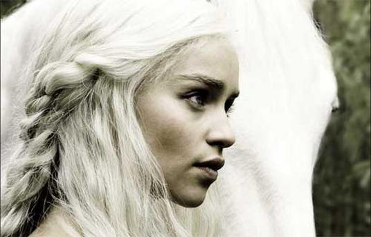 Emilia Clarke stars as the waifish Daenarys Targaryen in Game of Thrones. Photo by Helen Sloan
