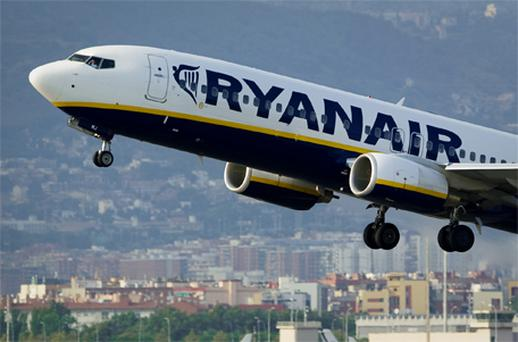 Shares in Ryanair tumbled 5.3pc to €3.36, after Europe's biggest discount airline said it will cut capacity for the first time in its history as higher fuel costs bite. Photo: Getty Images