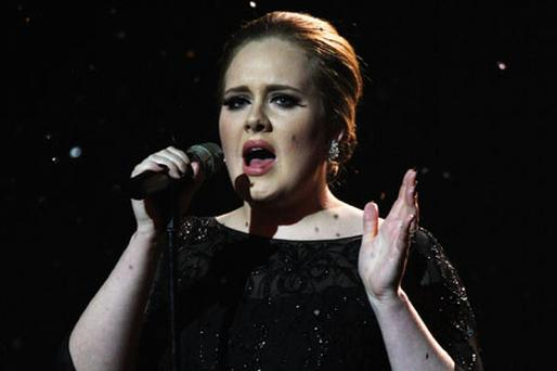 Adele at the Brit Awards; she says she prefers smaller venues. Photo: Getty Images