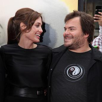 Angelina Jolie and Jack Black attend the LA premiere of Kung Fu Panda 2