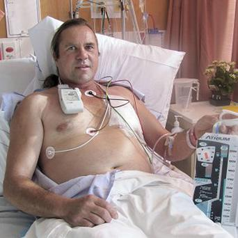 New Zealand truck driver Steven McCormack in hospital after an accident with an air hose (AP)