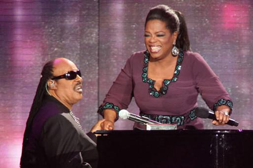 Stevie Wonder and Oprah Winfrey. Photo: Getty Images