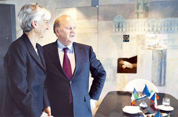 Finance Minister Michael Noonan meets his French counterpart, Christine Lagarde, in Paris yesterday