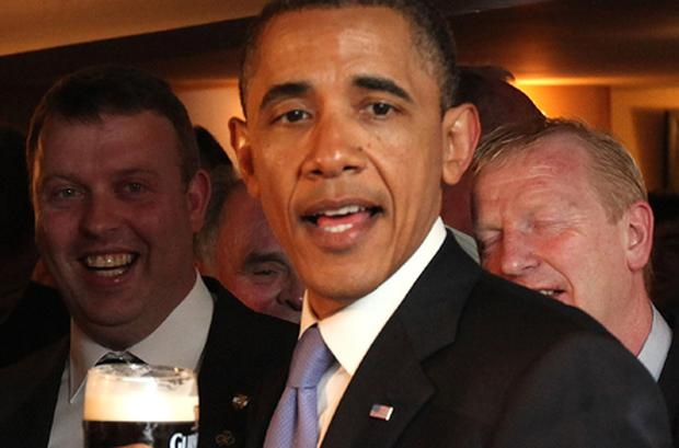 US President Barrack Obama speaking in Moneygall on Monday. Photo: Getty Images