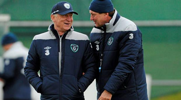 Giovanni Trapattoni and Marco Tardelli have left the troubles of this week behind them