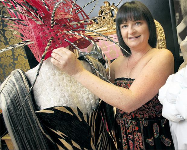 Team Ireland member Jacqueline Layton puts the final touches to her designs in her salon in Dalkey, Co Dublin.