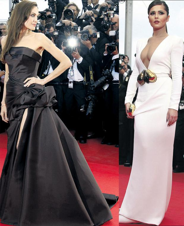 From left: Angelina Jolie and Cheryl Cole