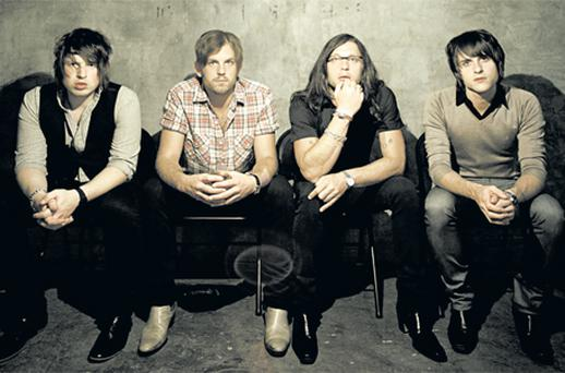 The Kings of Leon keep it in the family. The band is made up of brothers Caleb (second from left), Nathan and Jared Followill and cousin Matthew Followill (far left)