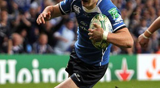 Jonathan Sexton scoring the try that sparked Leinster's comeback in the 2011 final
