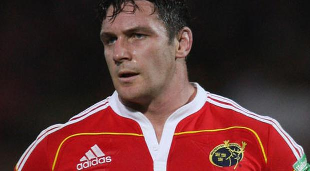 David Wallace will win his 200th cap as Munster name an unchanged starting XV. Photo: Getty Images