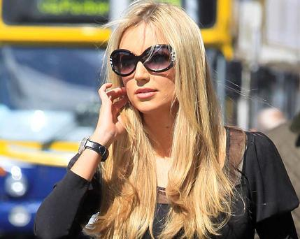Former Miss World Rosanna Davison pictured arriving at the Four Courts. Photo: Collins Courts