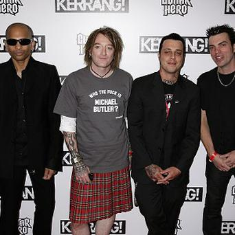 Ginger (second left) is known for his band The Wildhearts