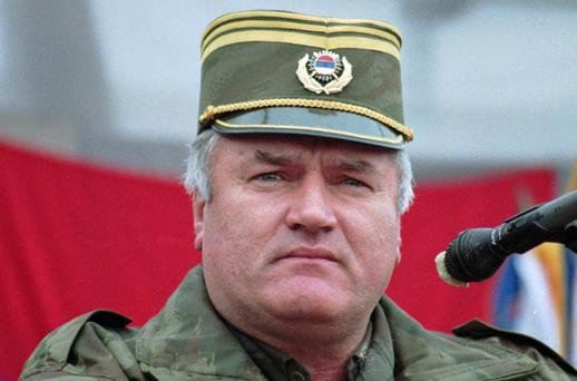 Dec. 2, 1995 photo, Bosnian Serb army commander Gen. Ratko Mladic addresses his troops in the eastern Bosnian town of Vlasenica. Mladic, Europe's most wanted war crimes fugitive, has been arrested in Serbia. Photo: AP
