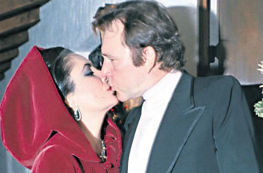 Women, women everywhere: Richard Burton with his then wife Elizabeth Taylor in 1974