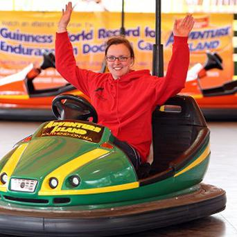 Laura Byng, 28, from Southend, rode dodgem cars for 25 hours straight