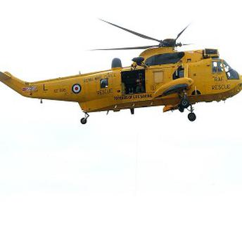 An RAF rescue helicopter was used to hunt for a missing boy who was later found hiding in his tent