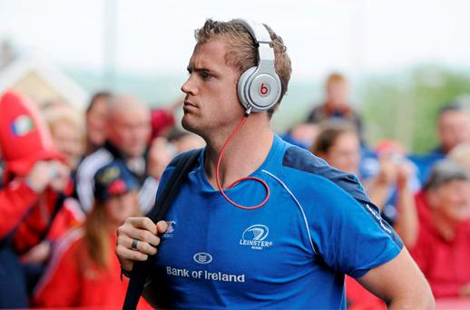 Leinster's Jamie Heaslip arrives ahead of the game