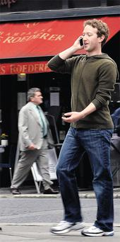 Mark Zuckerberg walks through Dublin at the weekend