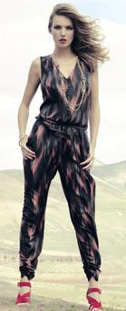 Jumpsuit, €80, sandals, €75, necklace, €35,M&S