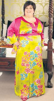 Rosemary bought this colourful number, by German plus-size designer Anna Scholz, for her brother's wedding last summer