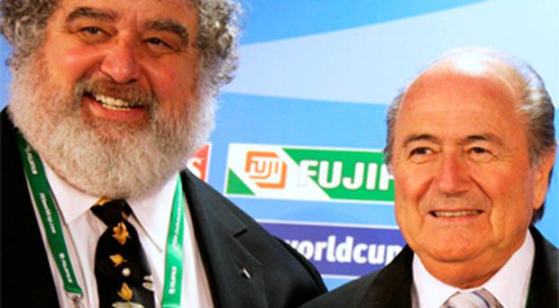 Chuck Blazer (left) with Sepp Blatter