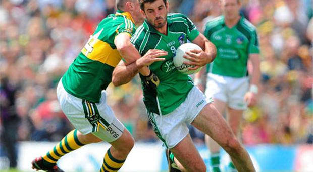 Limerick's John Galvin in action against Kieran Donaghy in last year's Championship