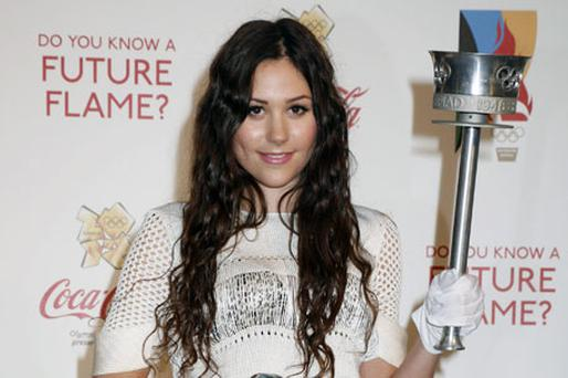 Eliza Doolittle at the launch of the London 2012 Olympic Torch relay campaign yesterday. Photo: Getty Images