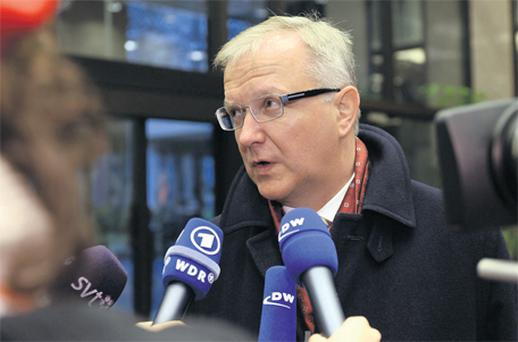 Olli Rehn, the European Union's economic and monetary affairs commissioner, says plan for Greece just days away