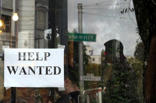 Economists slashed their forecasts for tomorrow's US payrolls report after private-sector job growth tumbled to just 38,000, its lowest level in eight months. Photo: Getty Images