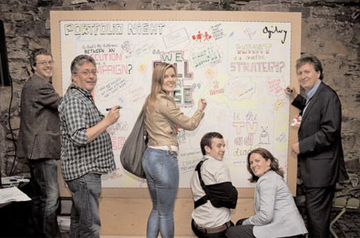 Advertising and communicati ons agency Ogilvy hosted Dublin's Portfolio Night 9 for the second consecutive year running