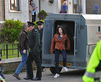 Killnarden in Tallaght was trnsformed into a Belfast republican estate for the filming of 'Shadow Dancer'