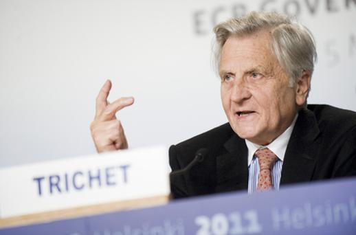 Outgoing ECB chief Jean-Claude Trichet said governments should consider setting up a finance ministry for the 17-nation euro region. Photo: Getty Images