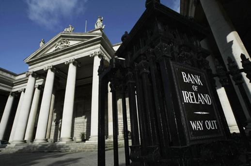 Bank of Ireland continued to gain after heavy losses earlier in the week, leading the index in percentage terms, up 16.20pc at 17c. Photo: PA