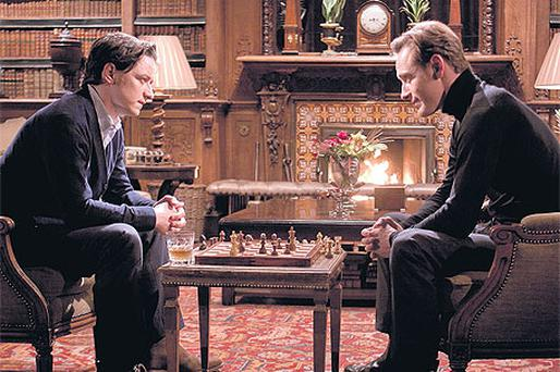 DIFFERENT TACTICS: James McAvoy and Michael Fassbender star