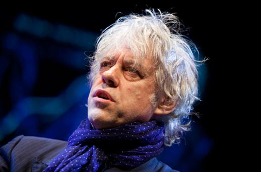 Bob Geldof gave a moving speech about the power of love on the last day of the Hay Festival. Photo: Getty Images