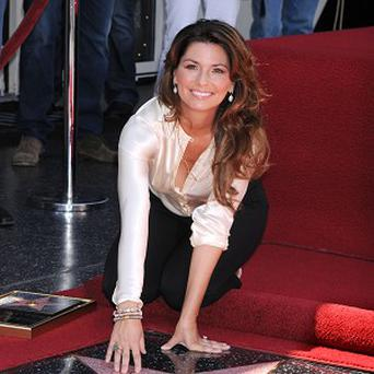 Shania Twain received a star on the Hollywood Walk of Fame