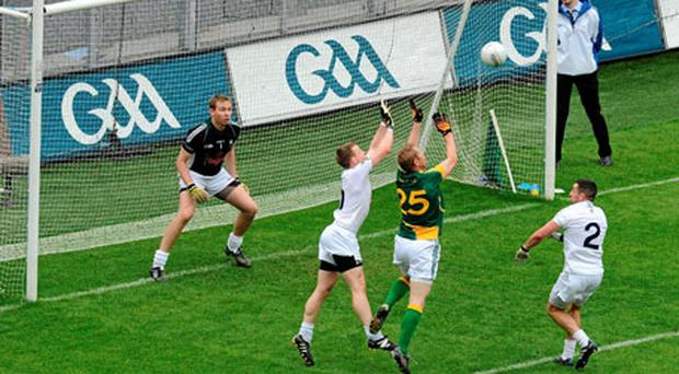 Déjà vu all over again: Kildare benefit from the marginal square ball call against Graham Geraghty on Sunday