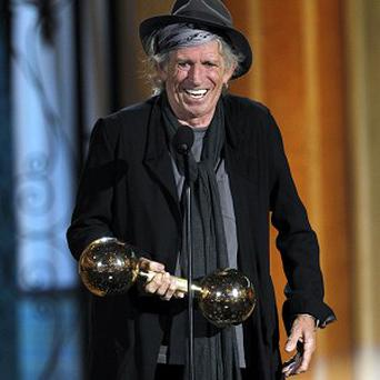 Keith Richards was honoured at the Spike TV Guys Choice Awards