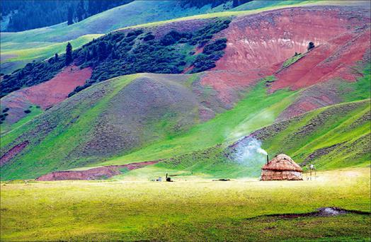 Peace and qui-yurt: Camping out in the mighty Alatau mountains of the south,
