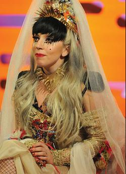 Lady Gaga wears a 'wedding dress' designed by Sorcha O'Raghallaigh