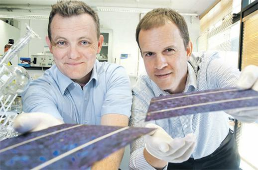 At the announcement were chief executive officer of Nines Photovoltaics Edward Duffy and the company's chief technology officer Laurent Clochard