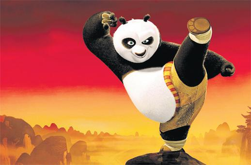 Jack Black brings plenty of humour to this high-kicking panda
