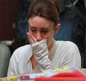 Casey Anthony's first-degree murder trial adjourned 90 minutes early on Thursday after she became ill during testimony about her 2-year-old daughter Caylee's skull being found in a wooded area. Photo: REuters