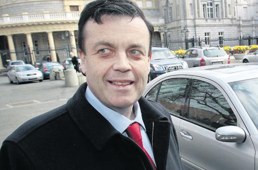 Brian Lenihan on one of his last visits to the Dail back in March