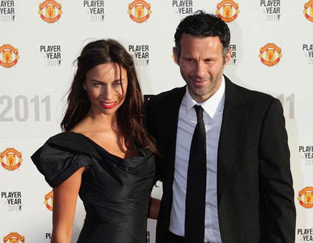 UNITED: Football star Ryan Giggs with his long-suffering wife Stacey before the affair allegations were revealed. Photo: PA