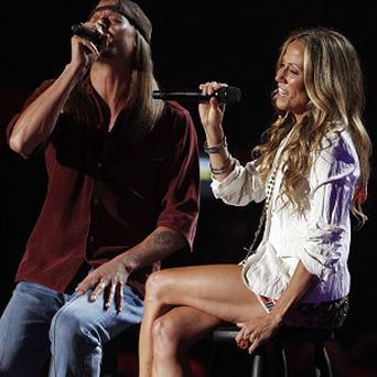 Sheryl Crow performed with Kid Rock at the awards show