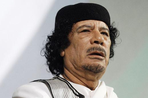 Libyan leader Muammar Gaddafi. Photo: Reuters