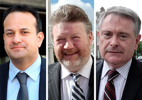 From left, Transport Minister Leo Varadkar, Health Minister James Reilly and Public Spending and Reform Minister Brendan Howlin