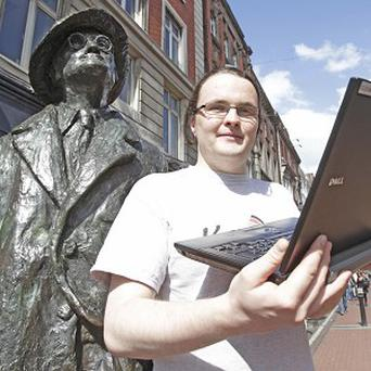 Software developer Rory McCann, who believes he has solved James Joyce's notorious riddle