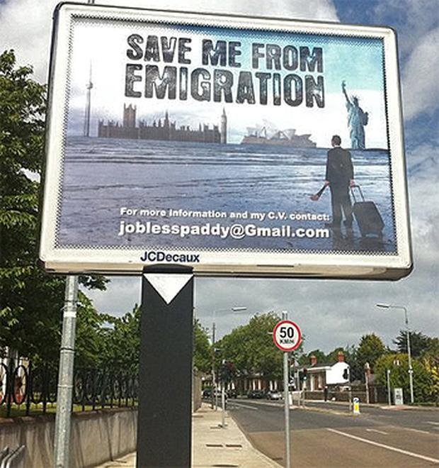 The billboard on Merrion Road